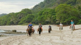 Sunset Horseback riding Santa Teresa Costa Rica